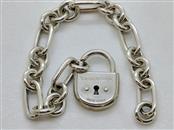 """Tiffany & Co. Arc Lock Figaro Link Bracelet Sterling Silver 7"""""""